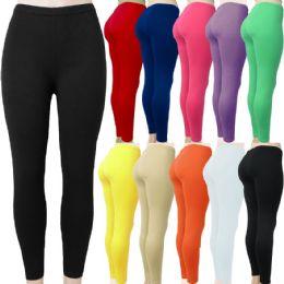 48 Units of Women's Buttery Soft Full Length Leggings in Assorted Colors - Womens Leggings