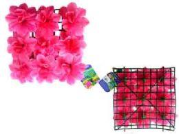 """48 Units of Flower Mat 9 Head 10""""x10"""" Pink - Artificial Flowers"""