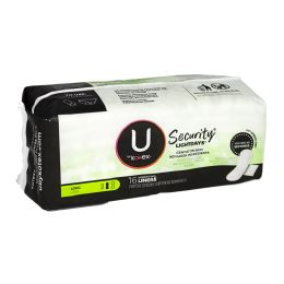 48 Units of U by Kotex Long Unscented Pantiliners Pack Of 16 - Personal Care