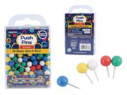 96 Units of Push Pins Round - Push Pins and Tacks