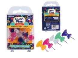 96 Units of Push Pins Jumbo 40pc - Push Pins and Tacks