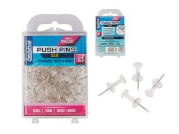 96 Units of Push Pins Clear 150pc. - Push Pins and Tacks
