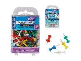 96 Units of Push Pins Assorted Colors 150pc. - Push Pins and Tacks
