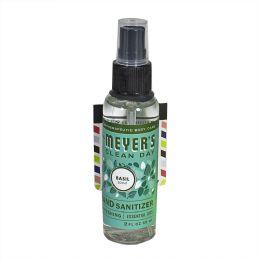 24 Units of Mrs. Meyer's Basil Hand Sanitizer Spray 2 oz. - Hand Sanitizer