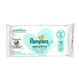 64 Units of Pampers Sensitive Baby Wipes Pack Of 18 - Baby Beauty & Care Items