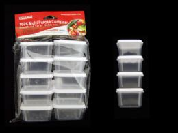 48 Units of 10pc Square Multipurpose Containers - Storage Holders and Organizers