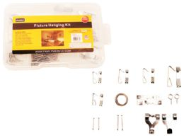 72 Units of 123pc Picture Hanging Kit With Tool Box - Tool Sets