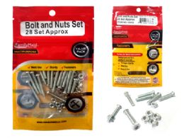 96 Units of Asst Nuts & Bolts M4 X 30. 28 Sets - Drills and Bits