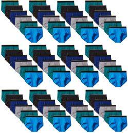 72 Units of Mens Hanes Assorted Colors And Sizes Brief Underwear, Cotton Tagless Underwear For Men M-XXL - Mens Underwear