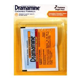 72 Units of Travel Size Dramamine Pack Of 2 - Pain and Allergy Relief
