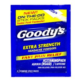 72 Units of Headache Powder Goody Extra Strength Headache Powder Sticks Pack Of 2 - Pain and Allergy Relief