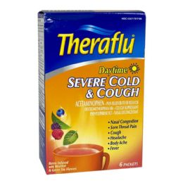 12 Units of Cold Cough Relief Theraflu Severe Cold Cough Daytime Box Of 6 - Pain and Allergy Relief