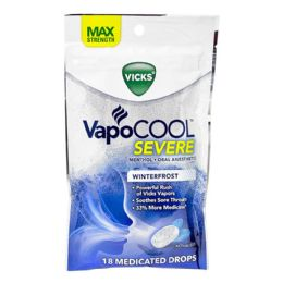 48 Units of Vick's Drops Vick's Vapocool Medicated Drops Pack Of 18 - Pain and Allergy Relief