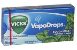 80 Units of Vicks Vapodrops - Vicks Vapodrops Menthol Box of 20 Drops - Pain and Allergy Relief