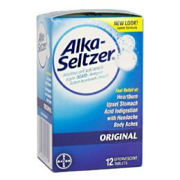 18 Units of Travel Size Antacid Box - Alka Seltzer Antacid Pain Relief Box Of 12 - Pain and Allergy Relief