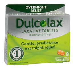 48 Units of Laxative Tablets - Dulcolax Laxative Tablets Box of 8 - Pain and Allergy Relief
