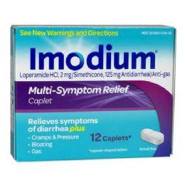 12 Units of Multi Symptom Relief - Imodium Multi Symptom Relief Box Of 12 - Pain and Allergy Relief