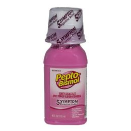 24 Units of Travel Size Pepto Bismol Liquid 4 oz. - Pain and Allergy Relief