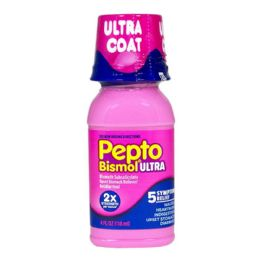 12 Units of Travel Size Pepto Bismol Max 4 oz. - Pain and Allergy Relief