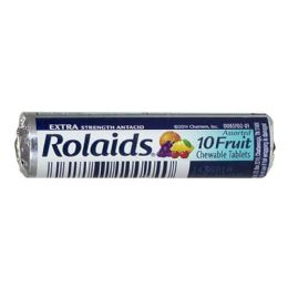 96 Units of Travel Size Rolaids Extra Strength Fruit Roll of 10 - Pain and Allergy Relief
