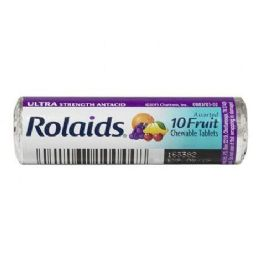 96 Units of Antacid - Rolaids Ultra Strength Assorted Fruit Antacid Roll of 10 - Pain and Allergy Relief