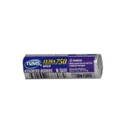 96 Units of Travel Size Tums EX Assorted Berries Antacid Roll of 8 - Pain and Allergy Relief