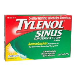 12 Units of Tylenol Sinus Relief - Tylenol Sinus Congestion Pain Box of 24 - Pain and Allergy Relief