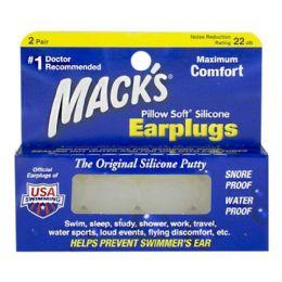 48 Units of Earplugs - Mack's Pillow Soft Silicone Earplugs 2 Pairs - Earplugs