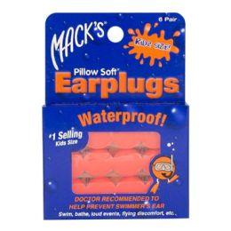 24 Units of Earplugs - Mack's Soft Moldable Silicone Putty Earplugs Kids Size 6 Pairs - Earplugs