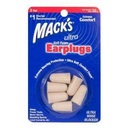 24 Units of Macks Soft Foam Earplugs 3 Pairs - Earplugs