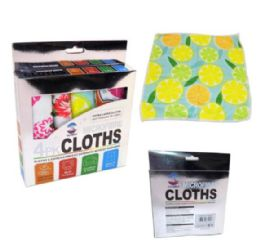 120 Units of WHOLESALE 4 PACK MICROFIBRE CLOTHS - Towels