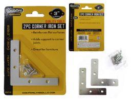 96 Units of 2pc Flat Corner Iron Supports - Hardware Gear
