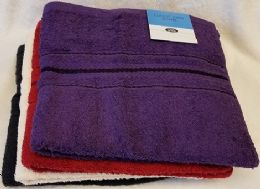 36 Units of 27x54 Heavy Assorted Colors Bath Towel - Towels