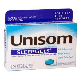 24 Units of Unisom Sleepgels Box of 8 - Pain and Allergy Relief