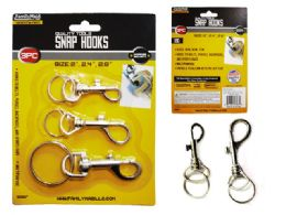 48 Units of 3 Piece Snap Hooks - Hooks