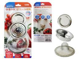 96 Units of Sink Strainer 3pc/set Blister - Kitchen Gadgets & Tools