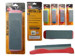 24 Units of Sharpening Stone W/ Holder - Hardware Miscellaneous