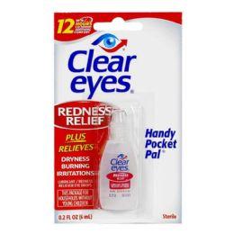 48 Units of Travel Size Clear Eyes Drops 0.2 Oz. - Eye Wear Gear