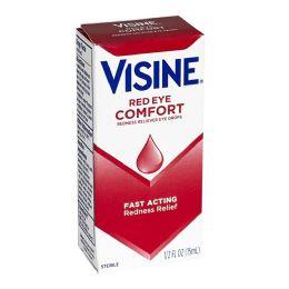 24 Units of Visine Red Eye Comfort Drops 0.5 Oz. - Eye Wear Gear