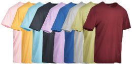 9 Units of Yacht & Smith Mens Assorted Color Slub T Shirt With Pocket - Size S - Mens T-Shirts