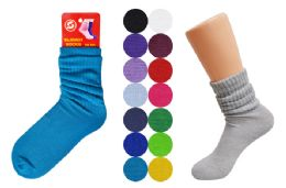 48 Units of Slouch Socks - Womens Crew Sock
