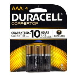 18 Units of Duracell Coppertop AAA Card of 4 - Batteries