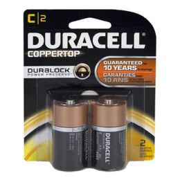 18 Units of Duracell C Battery - Duracell Coppertop C Batteries Card Of 2 - Batteries