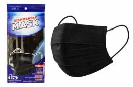 100 Units of 1 Pack Face Mask (black) - Face Mask
