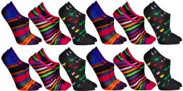108 Units of Yacht & Smith Womens Cotton No Show Loafer Socks With Anti Slip Silicone Strip - Womens Ankle Sock
