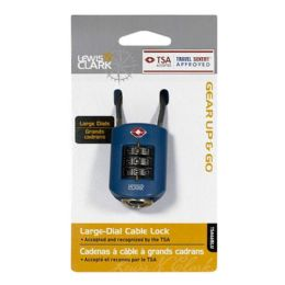 10 Units of Travel Size Padlock - Lewis N Clark Dial Cable Lock - Padlocks and Combination Locks