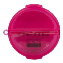 72 Units of Pill Box - Mon Image Round 2 Sided Pill Box - Pill Boxes and Accesories