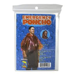 48 Units of Poncho Adult Emergency Assorted Colors - Umbrellas & Rain Gear