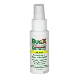24 Units of Travel Size Insect Repellent - BugX Deet Free Insect Repellent Towelette 2 Oz. Spray - Skin Care