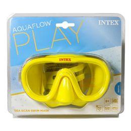 12 Units of Swim Mask - Intex Aquaflow Sea Scan Swim Mask 8 And Up - Beach Toys